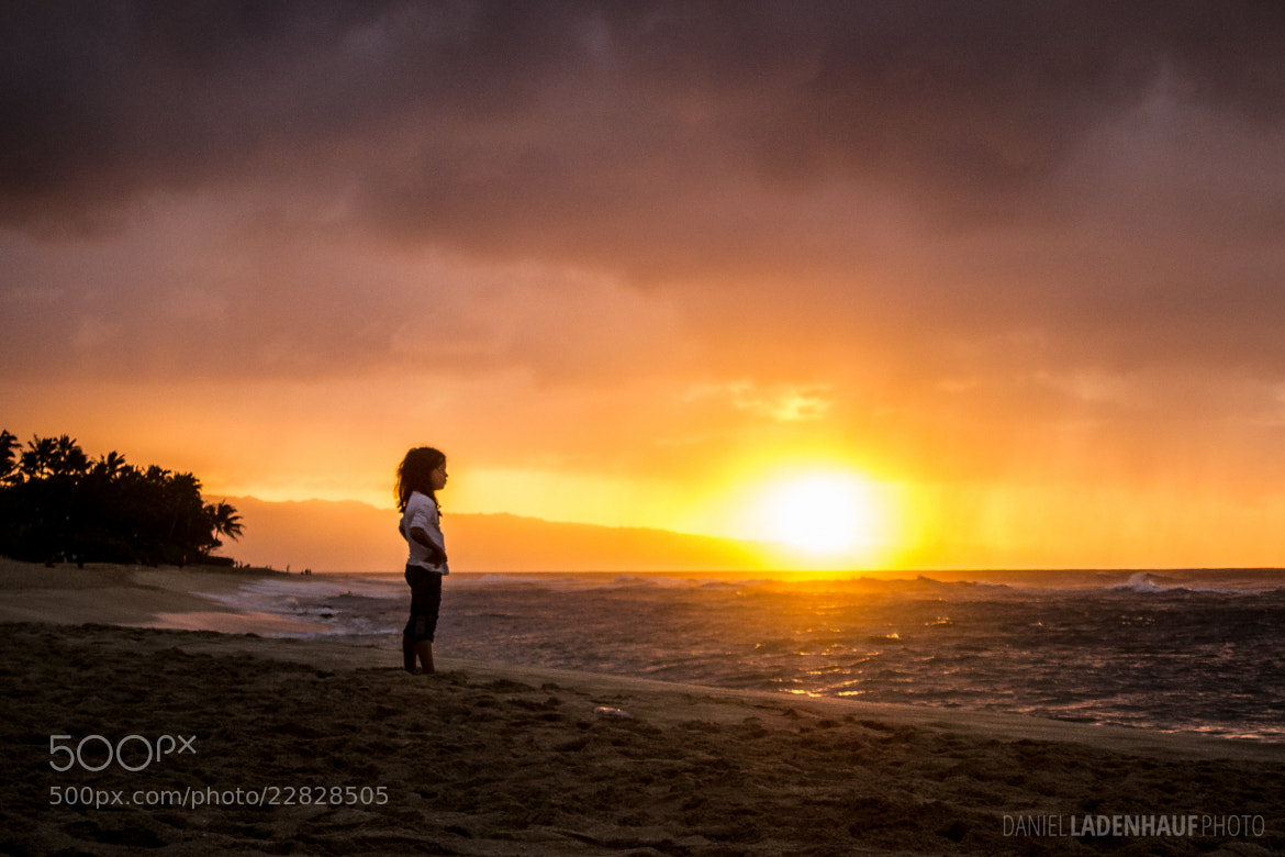 Photograph Little Girl Watching Surfers by Daniel Ladenhauf on 500px
