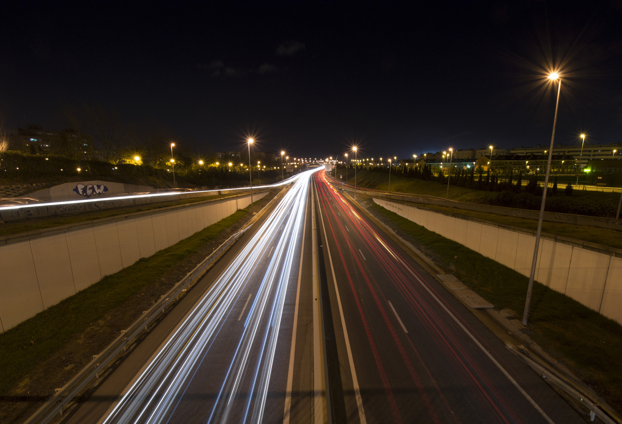 Photograph Threads of light on the road by Enrique Gómez on 500px
