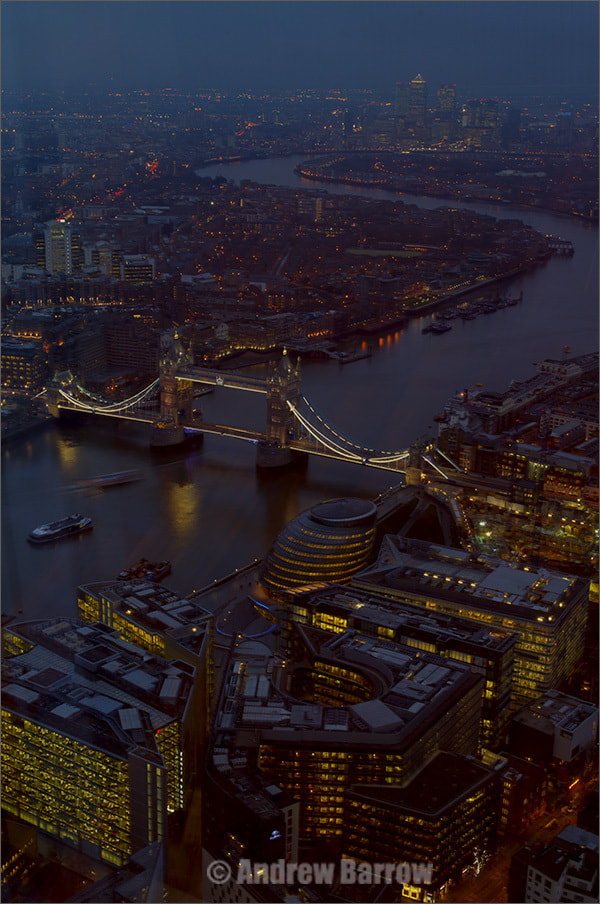 Photograph River Thames looking towards Canary Wharf by Andrew Barrow ARPS on 500px