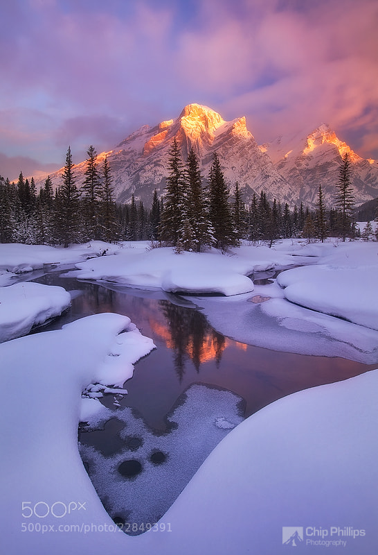 Photograph Mount Kidd Reflecting Pools by Chip Phillips on 500px
