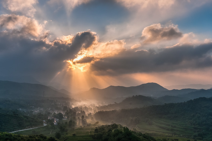 Photograph Rays of village by Song Hongxiao on 500px