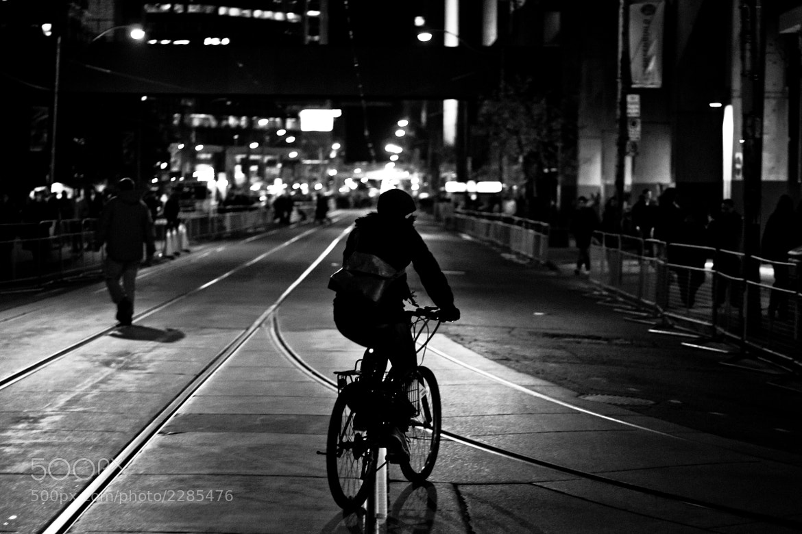Photograph Night Cyclist by Benjamin Garden on 500px