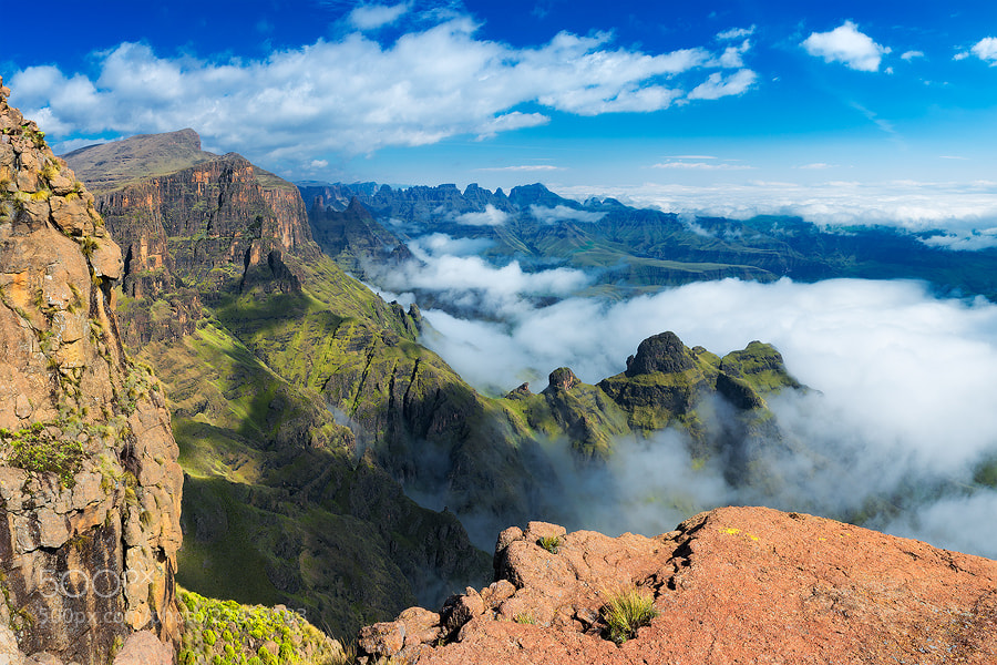 Photograph Perfect Day in the Drakensberg by Hougaard Malan on 500px