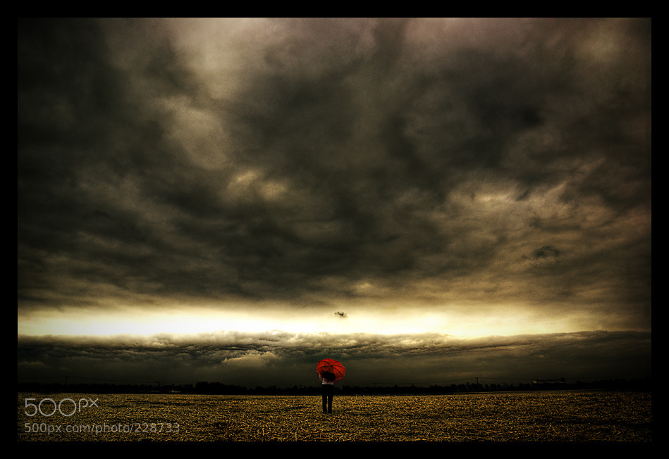 Photograph girl with red umbrella 2 by Dima Rudmann on 500px