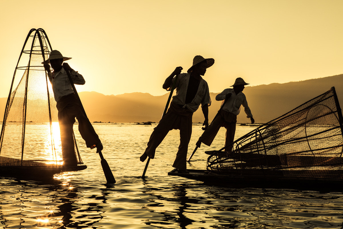 Photograph Sunset at Inle by Philippe CAP on 500px