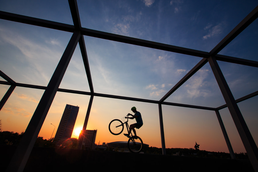 velotrial at sunset with geometry by Den Doroshenko on 500px.com