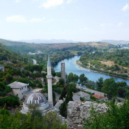La mosquée et la tour de l'horloge
