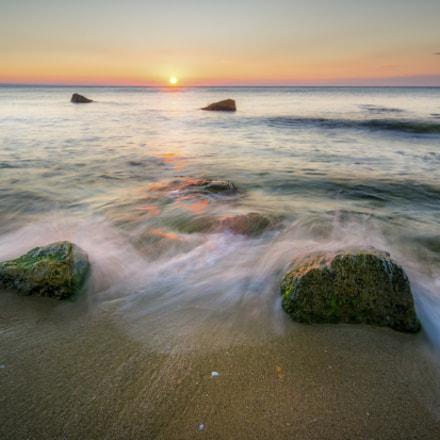 Sunrise over Varna Beach.