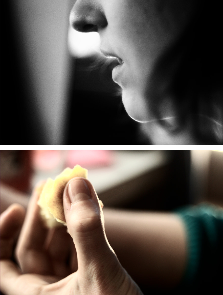 Photograph Apple-eating diptych by Diaspire Photo | Eachan J on 500px
