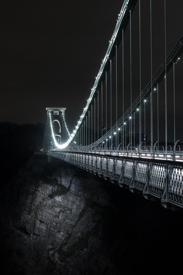 Photograph Suspension Bridge @ Night by Pete Griffiths on 500px