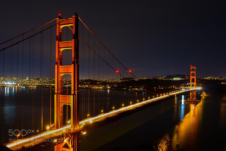 Photograph Bridge at Night by Tom Brichta on 500px