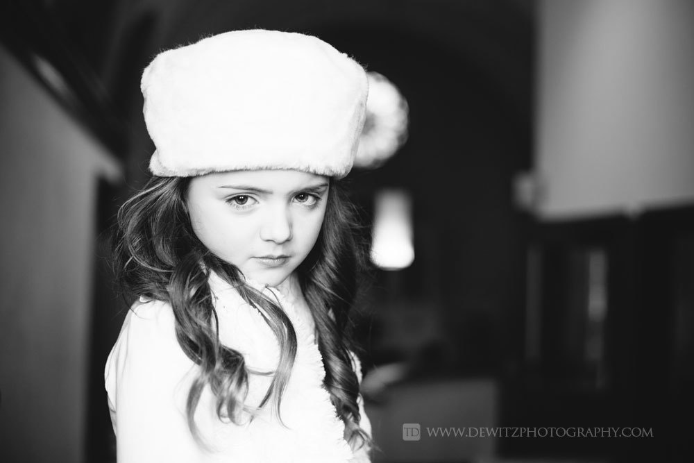 Photograph Cute Girl in White Fur Hat by Travis Dewitz on 500px