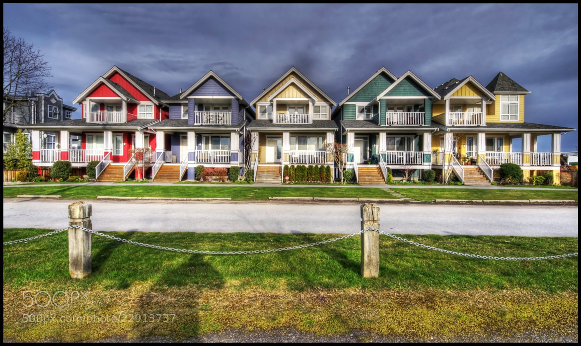 Photograph Rainbow Rowhomes by Craig MacIntosh on 500px