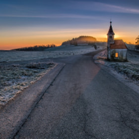 """""""Fire"""" in the chapel by Peter Zajfrid on 500px.com"""