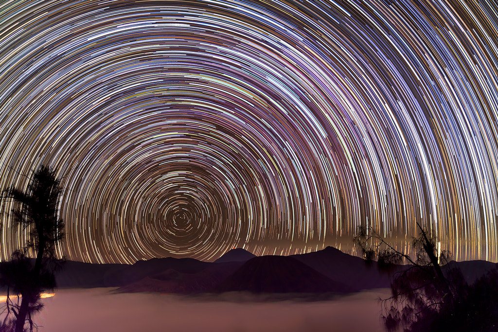 Photograph Star Trails in Mount Bromo by Justin Ng on 500px