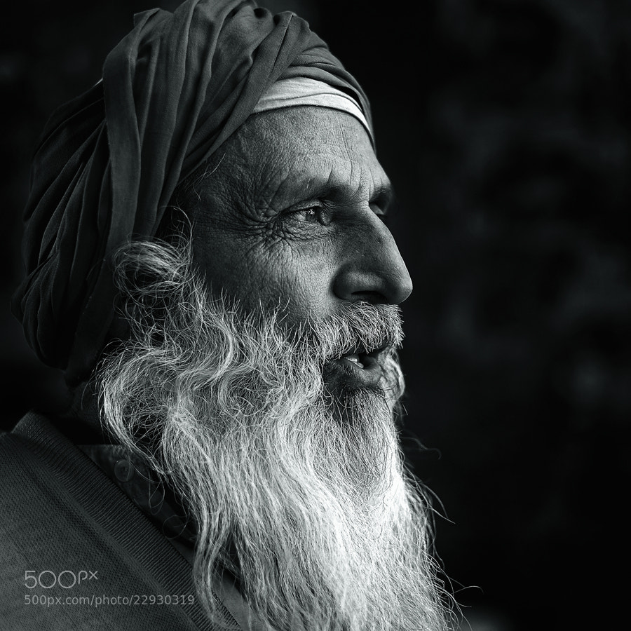 Photograph man from New Delhi / BW by Yaman Ibrahim on 500px