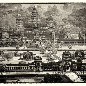 Old Poscard about Angkor Wat by Csilla Zelko (csillogo11)) on 500px.com