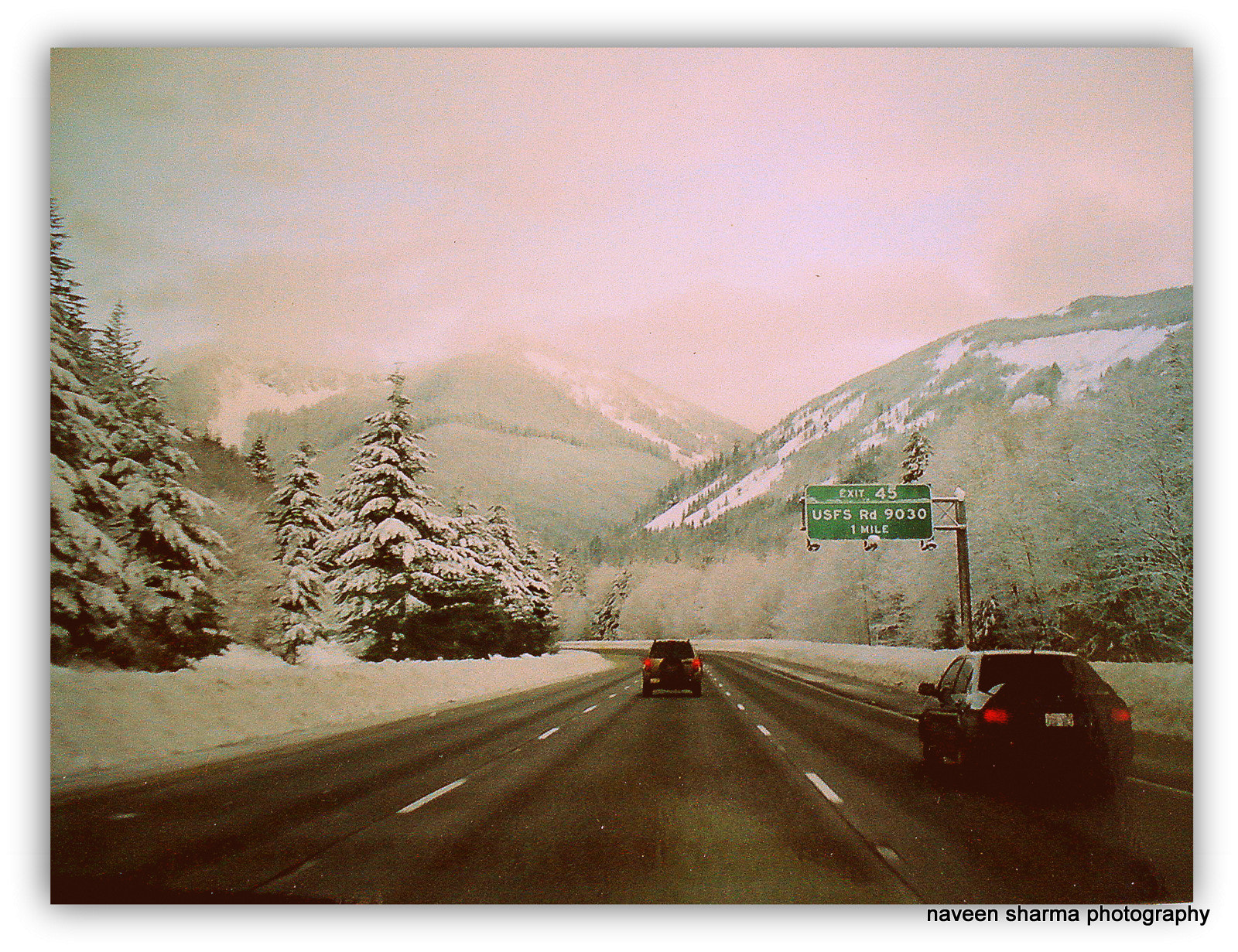Photograph I-90 on way to snoqualmie pass by naveen sharma on 500px
