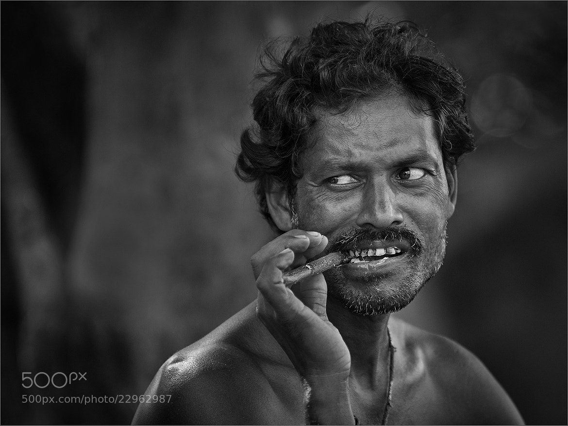 Photograph Man with a Neem Stick by Tony Smith on 500px