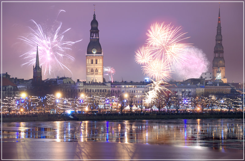 Photograph Riga, Latvia. Celebratory New Year's salute on December, 31, 2012 by Valerijs Kostreckis on 500px