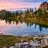 Lago nero valle maira piemonte monviso tramonto