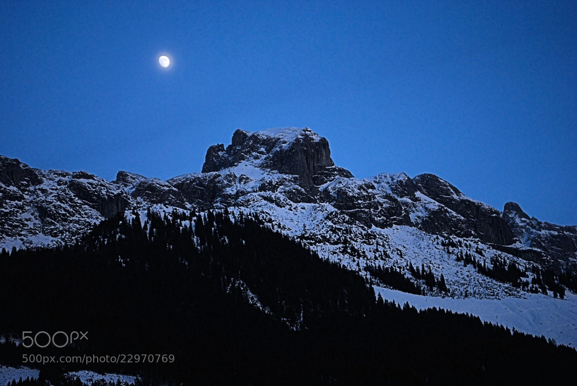Photograph Moonlit Mountain by Sue 6 on 500px