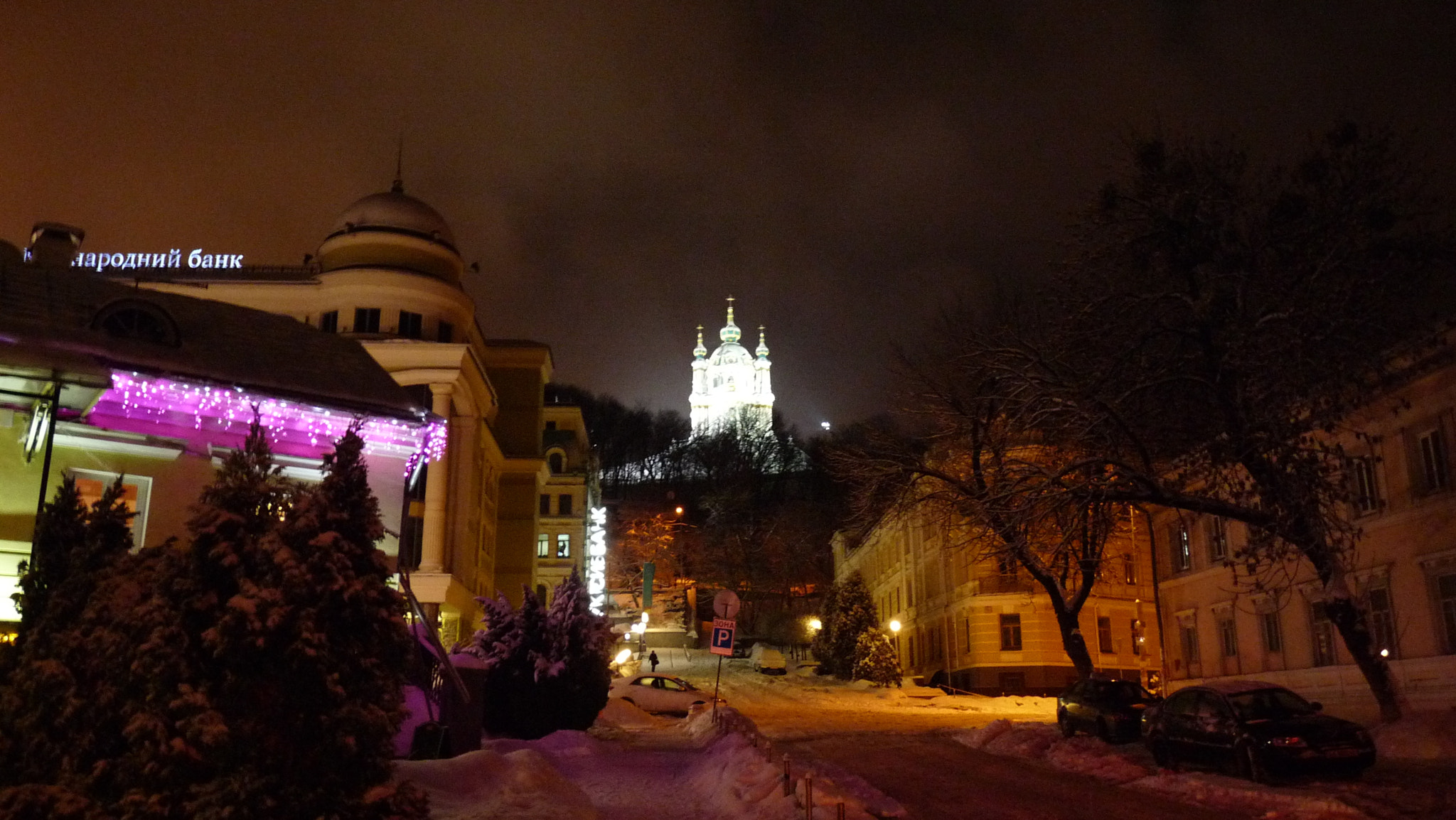 Photograph View from Podol to a orthodox church on Andriivs'kyi descent (Kiev) by Gue Gi on 500px