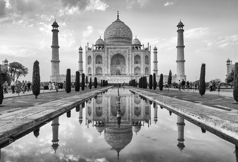 Photograph Taj Mahal refelection by Geoff Clark on 500px