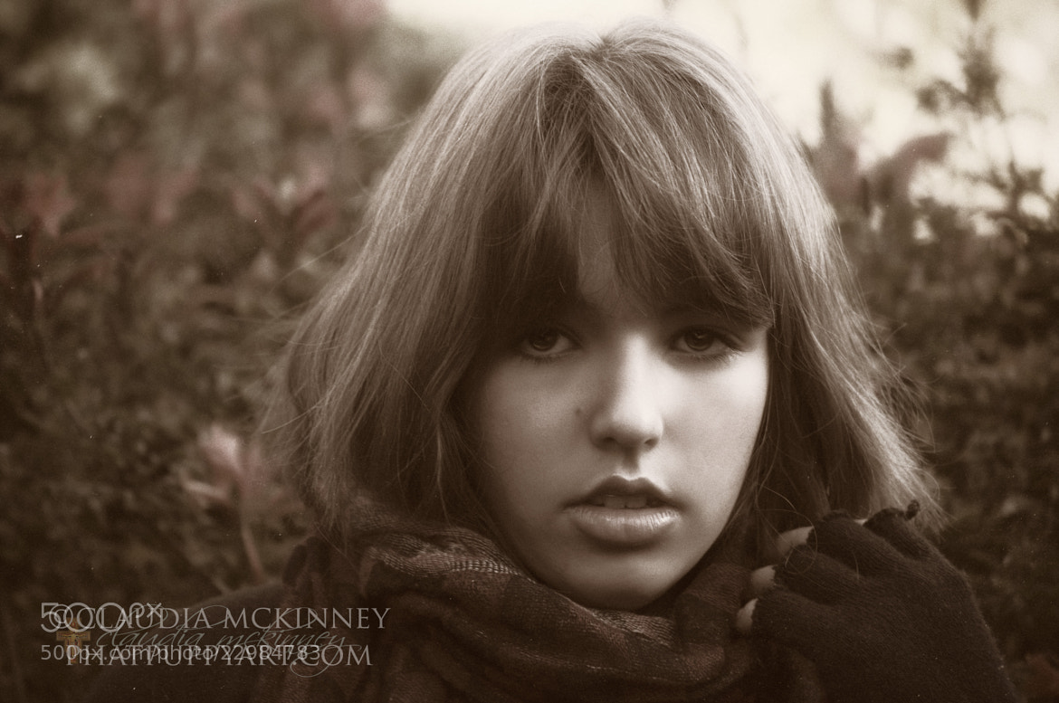 Photograph Bernadette in Sepia by Phatpuppy Art on 500px