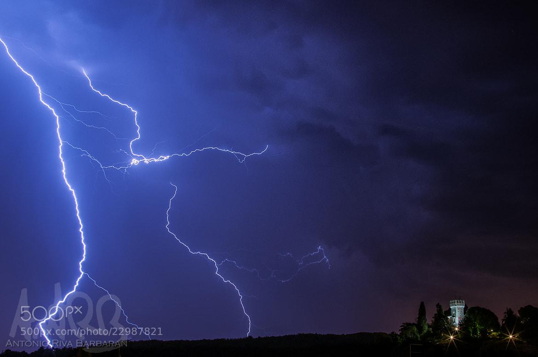 Photograph storm & castle by Antonio RIVA BARBARAN on 500px