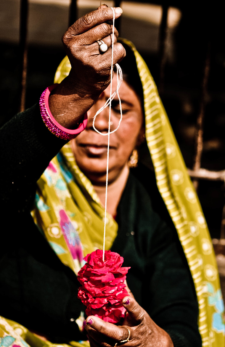 Photograph Weaving a Garland by Neha Bhaskar on 500px