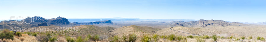 A panoramic that was taken in Big Bend National Park in February.
