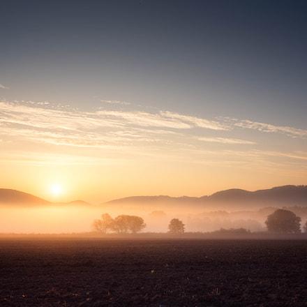 Wschód Słońca w drodze do Karpacza