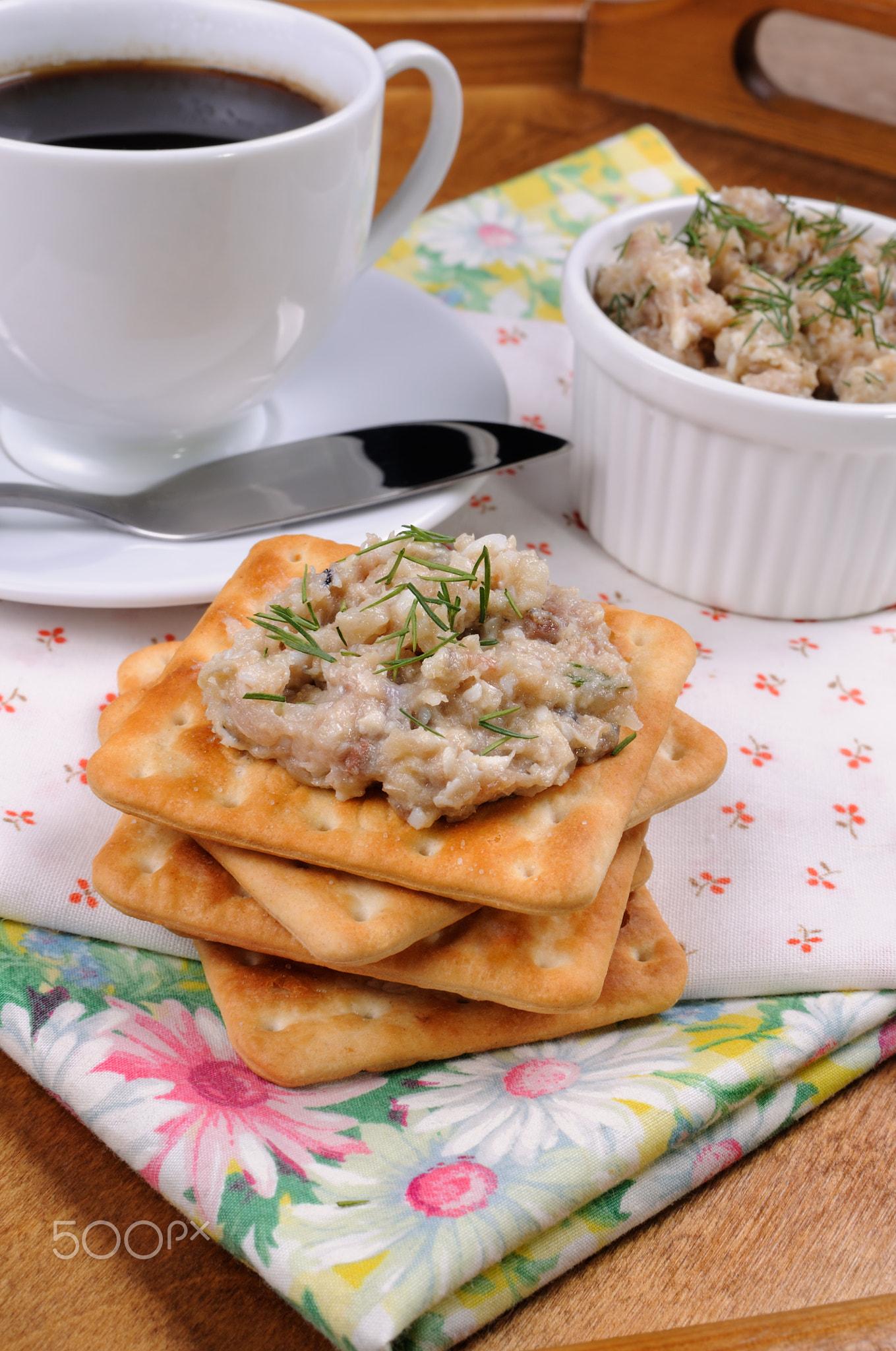 Appetizer of pate herring (forshmak)