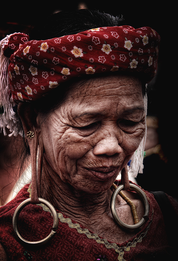 Photograph Dayak Grandma by K.Fikie  Aryadi on 500px