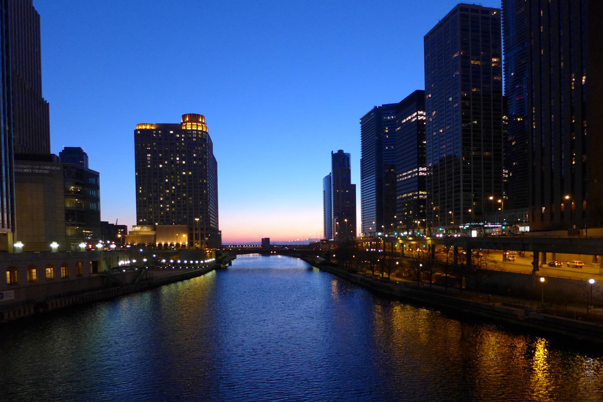 Photograph Chicago River Blue by Richard Sheldrake on 500px