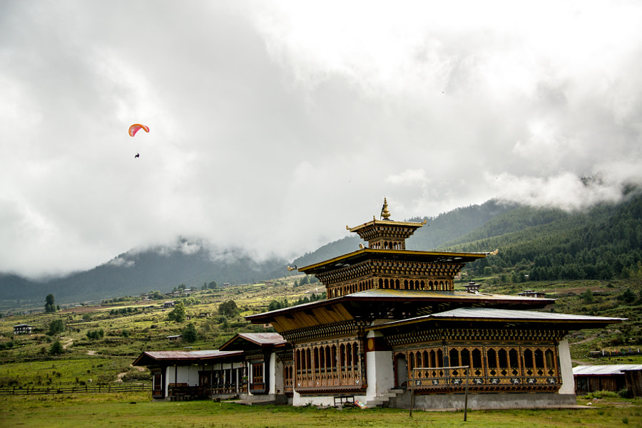 Paragliding in Bhutan by Darko Ermenc on 500px.com
