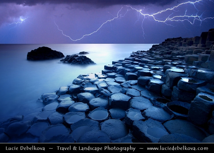 Photograph UK – Northern Ireland – Co. Antrim - Giant's Causeway - UNESCO World Heritage Site @ Dusk - Twilight by Lucie Debelkova -  Travel Photography - www.luciedebelkova.com on 500px