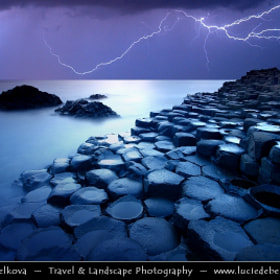 UK – Northern Ireland – Co. Antrim - Giant's Causeway - UNESCO World Heritage Site @ Dusk - Twilight