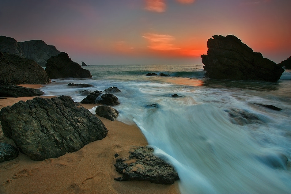 Photograph Evening at the Beach by Jaime Carvalho on 500px