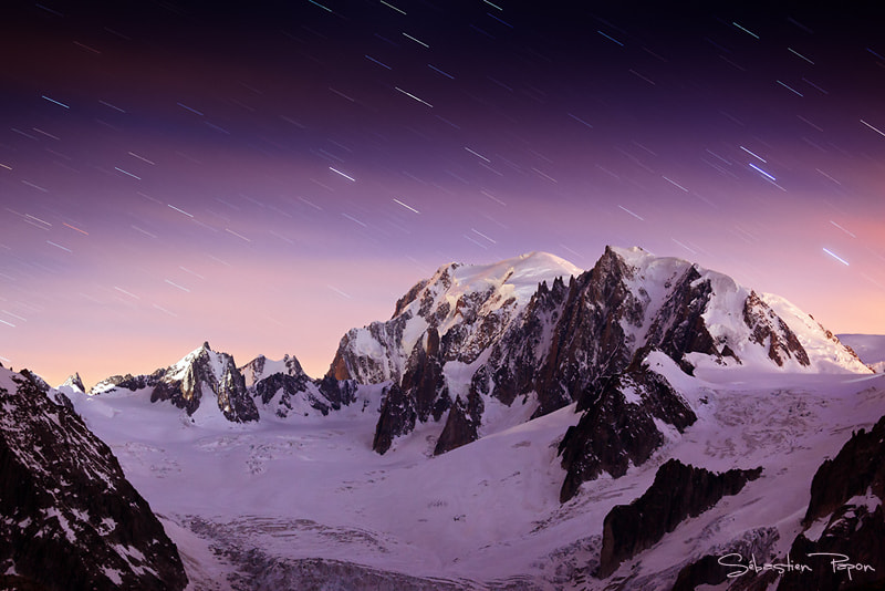 Photograph Night on the Mont-Blanc by Sebastien Papon on 500px