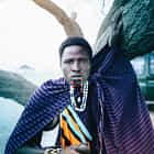 African Massai staring