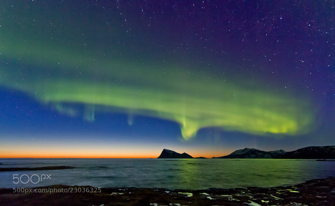 Photograph Sunset and Auroras by Frank Olsen on 500px