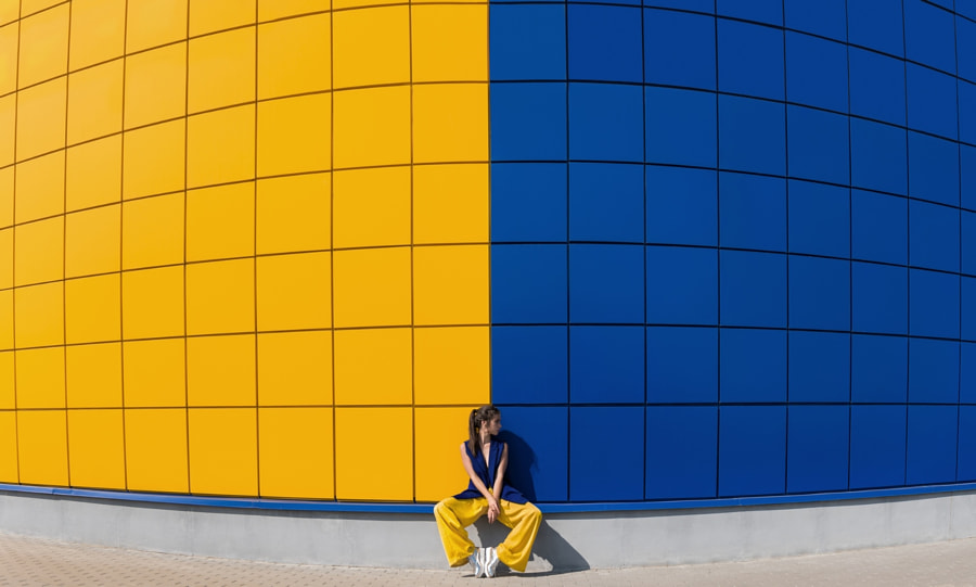 yellow and blue by Anna Degtyareva on 500px.com