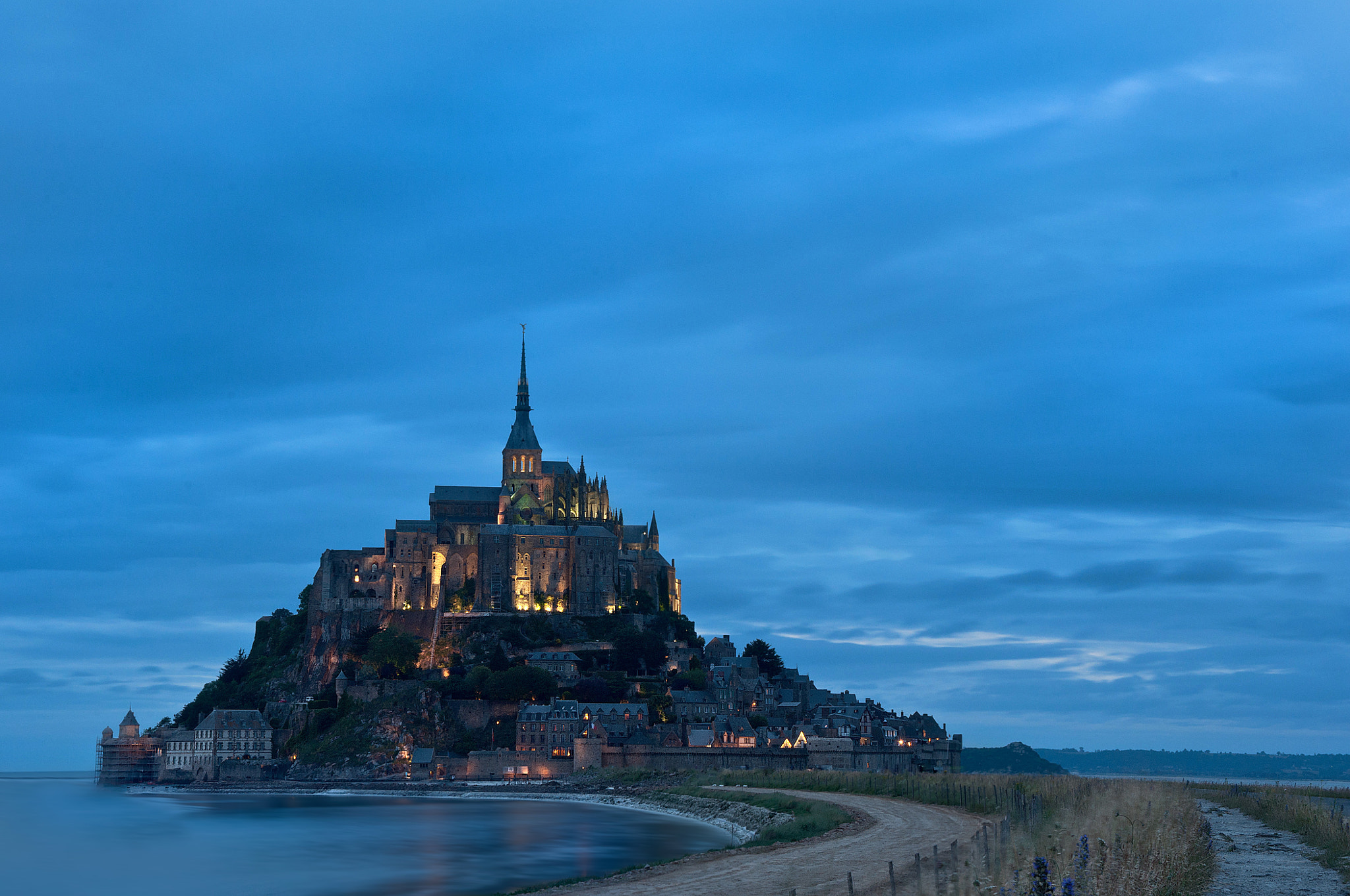 Photograph Mont Saint Michel at dusk by Paolo Bugnone on 500px