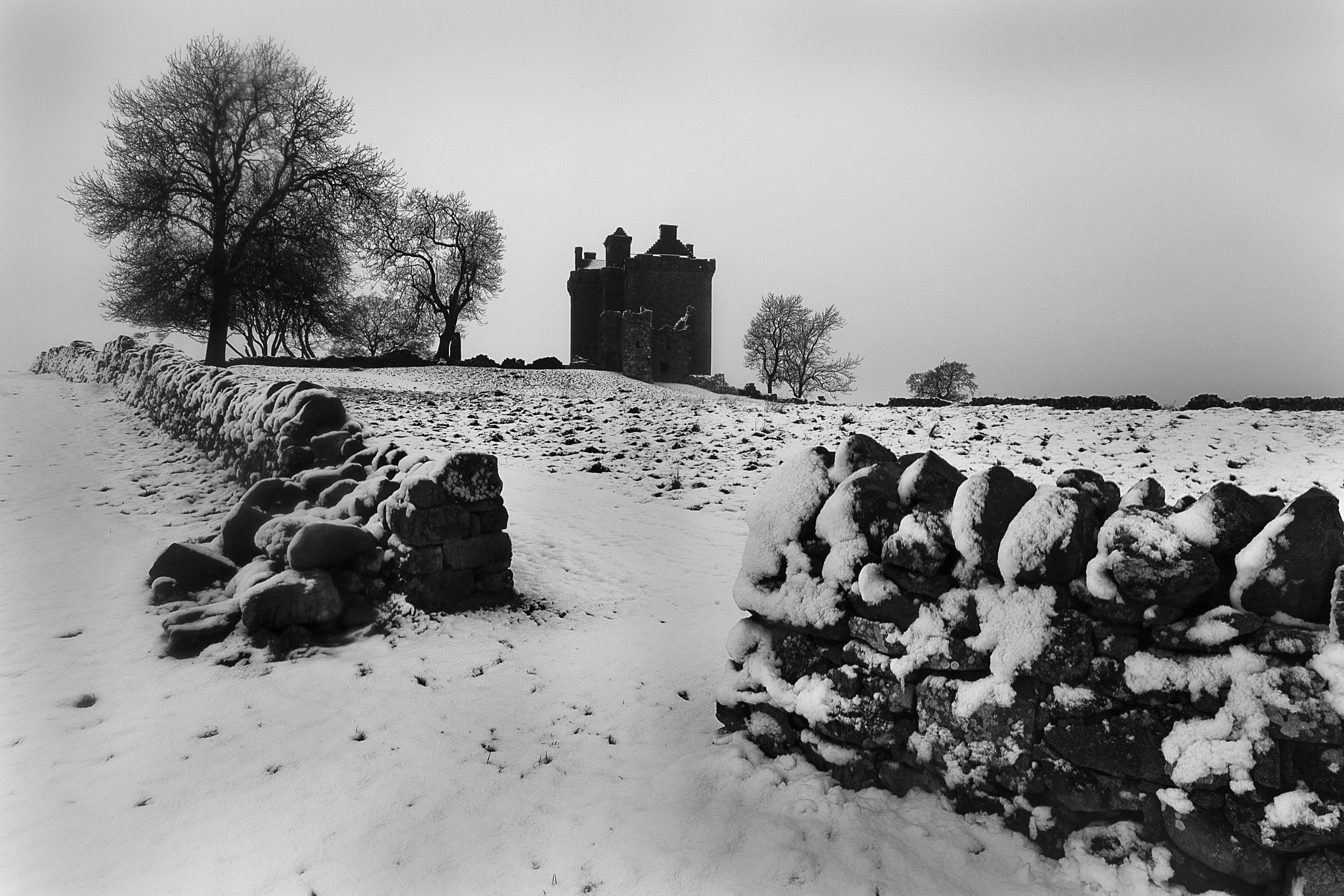 Photograph Balvaird Castle in the Snow by David Sharman on 500px