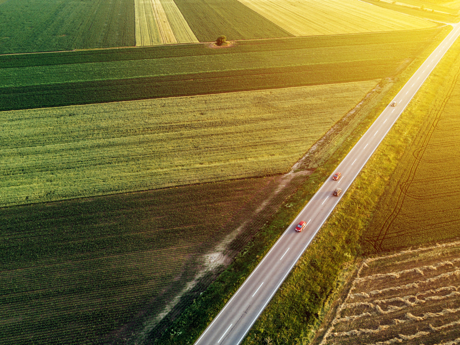 Aerial view of traffic on the road by Igor Stevanovic on 500px.com