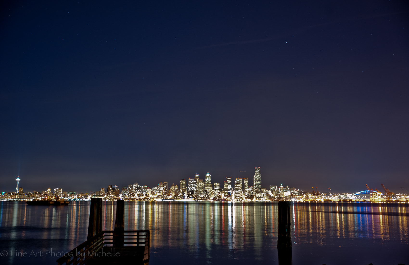 Photograph Stars Over Seattle by Michelle Stevenson on 500px