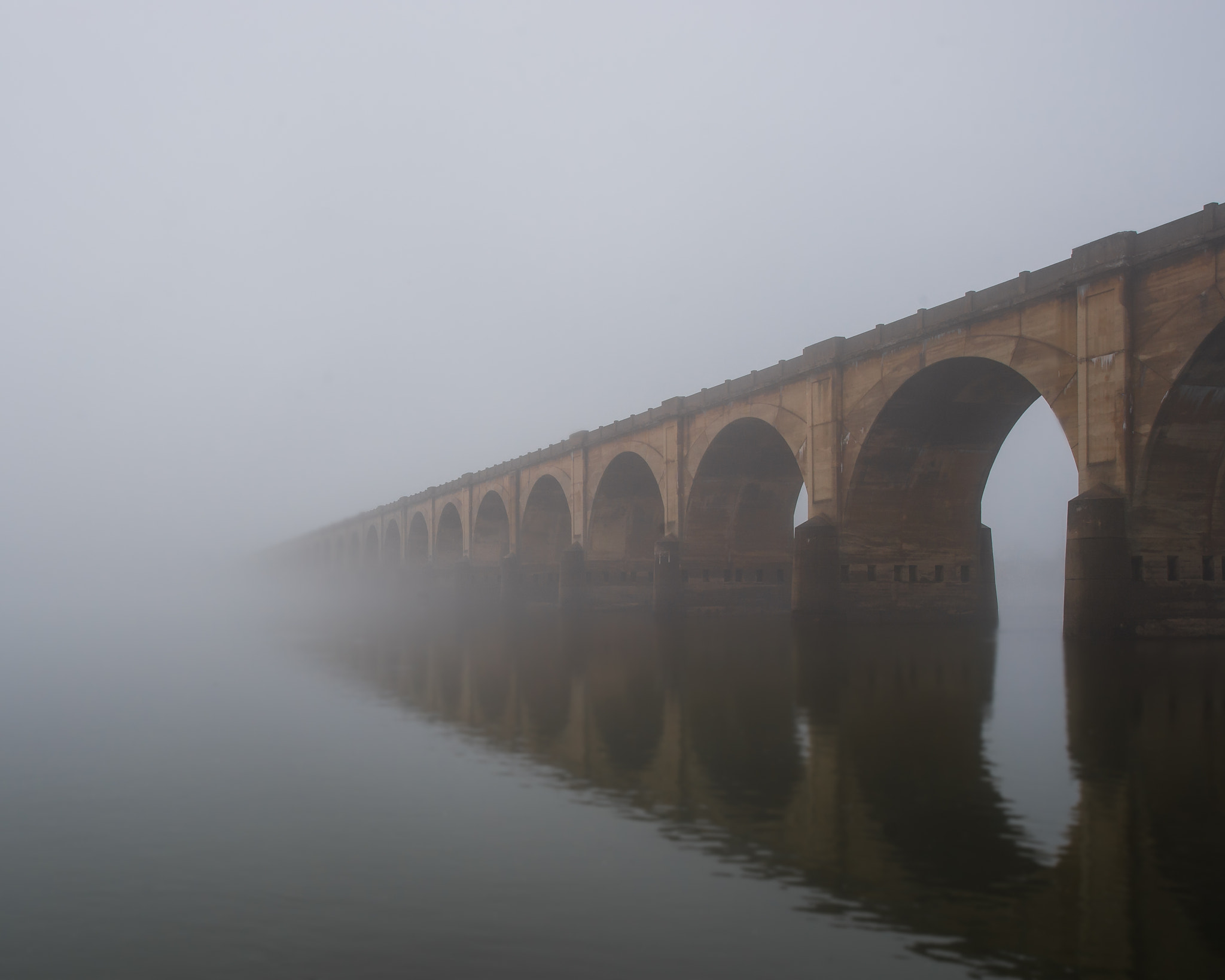 Photograph Bridge into the fog by Steven Kersting on 500px