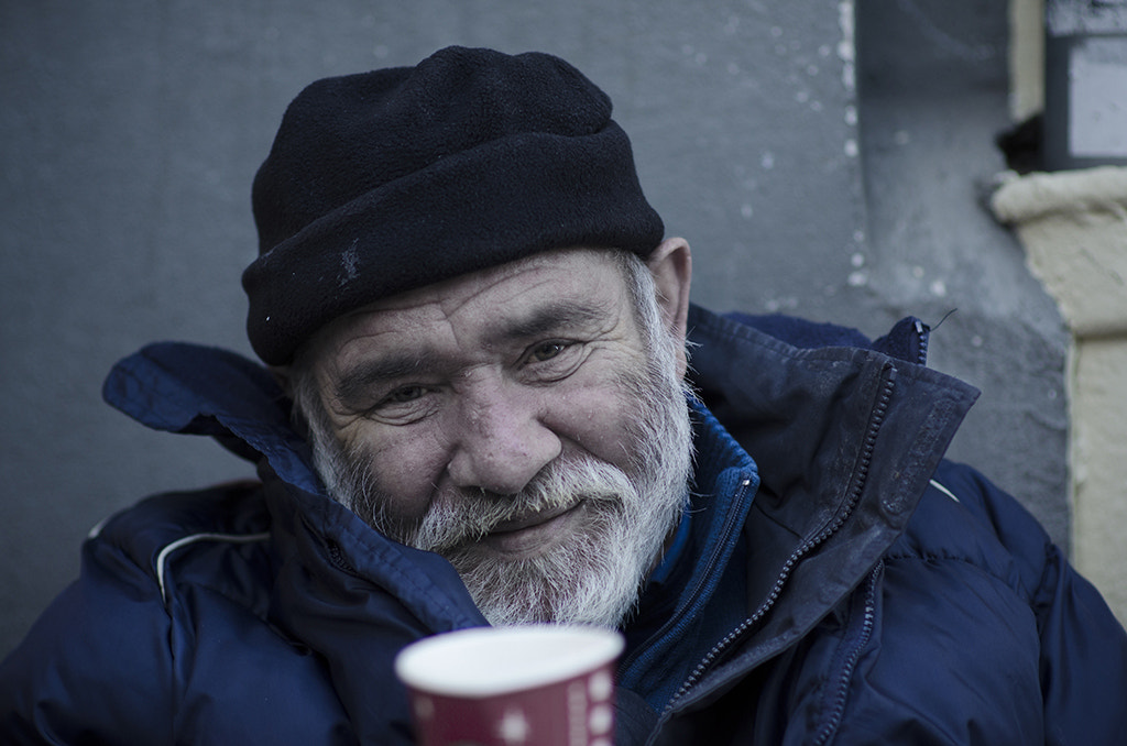 Photograph Old Beggar with a cup by Mustafa Keskin on 500px